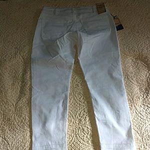 Silver White Denim Avery Skinny Crop Size 30